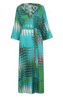 Шелковое платье-миди с принтом и поясом Kiton 3037677