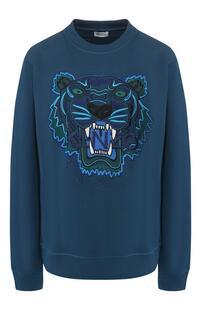 Хлопковый пуловер Kenzo 7125054