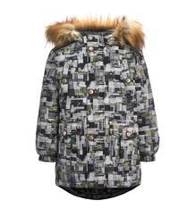 Куртка Kisu, цвет: серый/желтый 11732968