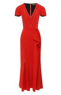 Платье-миди с оборкой Roland Mouret 7950242