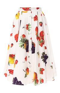 Хлопковая юбка с принтом MSGM 7012655