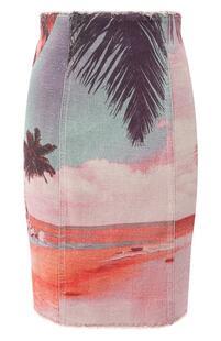 Льняная юбка BALMAIN 9858365