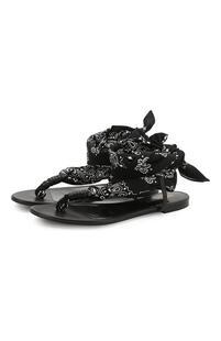 Кожаные сандалии Dallas Yves Saint Laurent 9735536