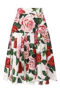 Хлопковая юбка Dolce&Gabbana 9843336