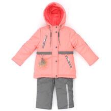 Комплект куртка/полукомбинезон Аврора Поля, цвет: коралловый/серый Avrora 11150042