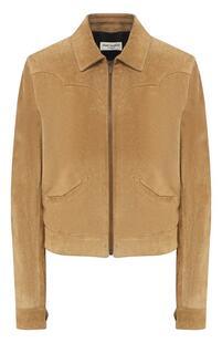 Кожаная куртка Yves Saint Laurent 7765820