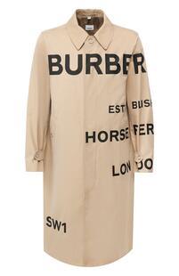 Хлопковый плащ Car Coat Burberry 9320254