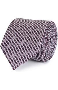 Шелковый галстук с узором Ermenegildo Zegna 2124350