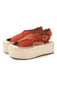 Замшевые сандалии Lauren Chloe 9108994