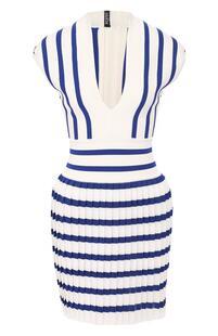 Платье в полоску BALMAIN 8761787
