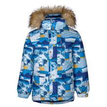 Куртка Kisu, цвет: синий/белый 10981478