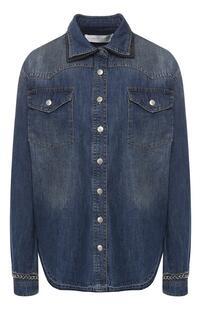Джинсовая рубашка VICTORIA, VICTORIA BECKHAM 8347163