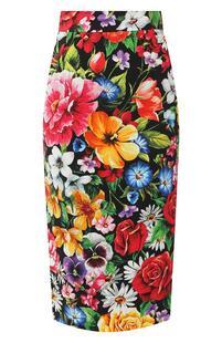 Юбка с принтом Dolce&Gabbana 8350425