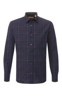Хлопковая рубашка с воротником кент Burberry 8395176