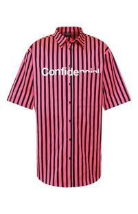Хлопковая рубашка MARCELO BURLON 8257605
