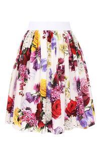 Хлопковая юбка Dolce&Gabbana 8242170