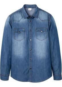 Рубашка джинсовая Slim Fit bonprix 261877614