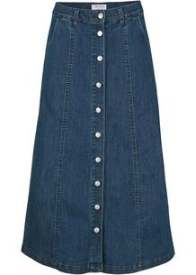 Джинсовая юбка на пуговицах bonprix 261743129