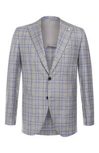 Пиджак из смеси шерсти и шелка L.B.M. 1911 7959909