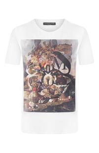 Хлопковая футболка Alexander McQueen 7591142