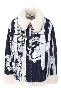 Джинсовая куртка с меховой подкладкой 7 for all mankind 7282141