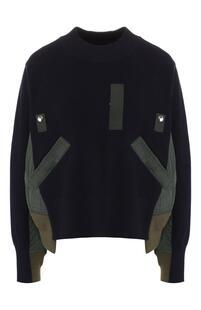 Хлопковый пуловер SACAI 7209768