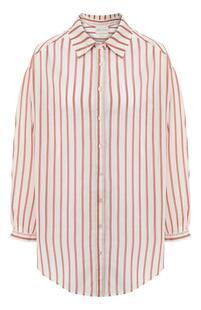 Рубашка из смеси хлопка и шелка FORTE_FORTE 7248667