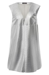 Кожаное мини-платье DROMe 6757848