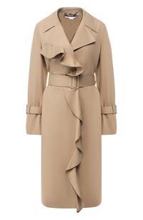Хлопковое пальто с поясом Stella Mccartney 6848379