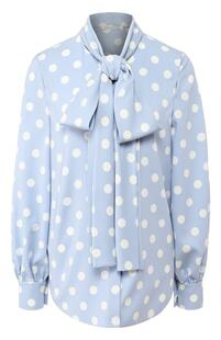 Шелковая блузка в горох Oscar de la Renta 6659169
