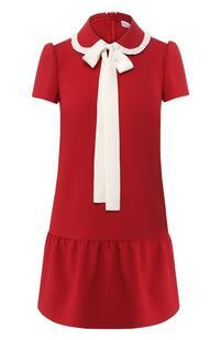 Платье с оборкой REDVALENTINO 7554434