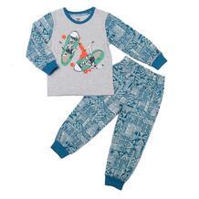 Пижама джемпер/брюки Batik, цвет: голубой/серый 10702913