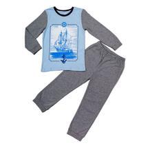 Пижама джемпер/брюки Batik, цвет: голубой/серый 10702991