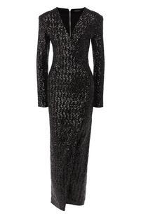 Платье с пайетками BALMAIN 8488682