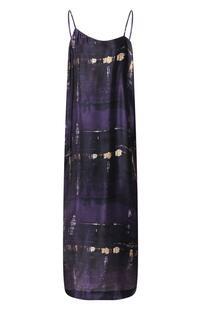 Шелковое платье ISABEL BENENATO 8498608