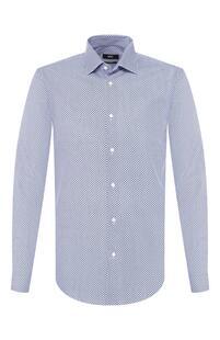 Хлопковая рубашка Boss Orange 8871589