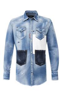 Джинсовая рубашка Dsquared2 8877399