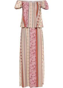 Платье с открытыми плечами bonprix 260456768