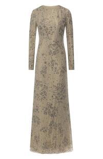 Платье-макси c кружевной отделкой Ralph Lauren 6529403