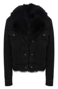 Джинсовая куртка с меховой подстежкой Yves Saint Laurent 6052437