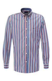 Хлопковая рубашка с воротником button down Paul Shark 6597996