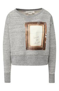 Хлопковый пуловер с принтом GOLDEN GOOSE DELUXE BRAND 6498197