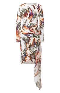 Шелковое платье с оборкой Givenchy 6467873