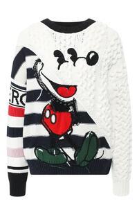 Вязаный пуловер с круглым вырезом Iceberg 6467341