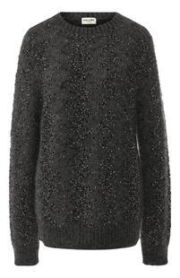 Вязаный пуловер с декоративной отделкой Yves Saint Laurent 6519036