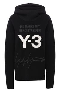 Шерстяной пуловер с капюшоном Y-3 6365484