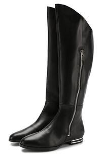 Кожаные сапоги на низком каблуке DKNY Jeans 6428484