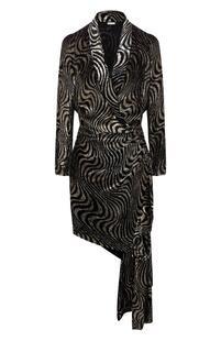 Приталенное платье с оборкой DODO BAR OR 6174608