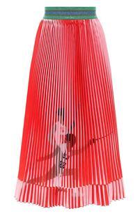 Плиссированная юбка-миди с принтом STELLA JEAN 6189308