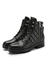 Кожаные байкеры на шнуровке Michael Michael Kors 6332584